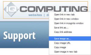 Saving / Copying Website Image