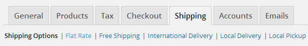 WooCommerce Shipping Options Menu