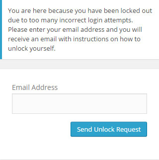 Enter your email address to receive an unlock notification email.