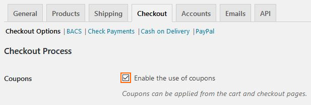 Enabling coupon use for your WooCommerce store