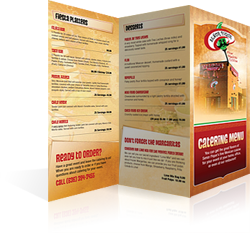 Menu Design Senor Pique