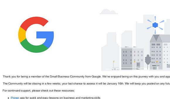 Google Closes Small Business Community