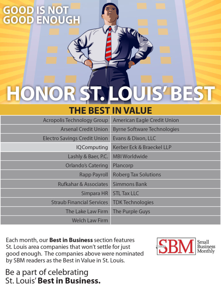 IQComputing named St. Louis Best in Value Company