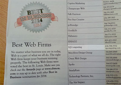 The  best St Louis web designer in Saint Louis, Missouri!