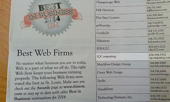 2014 Best Web Firm