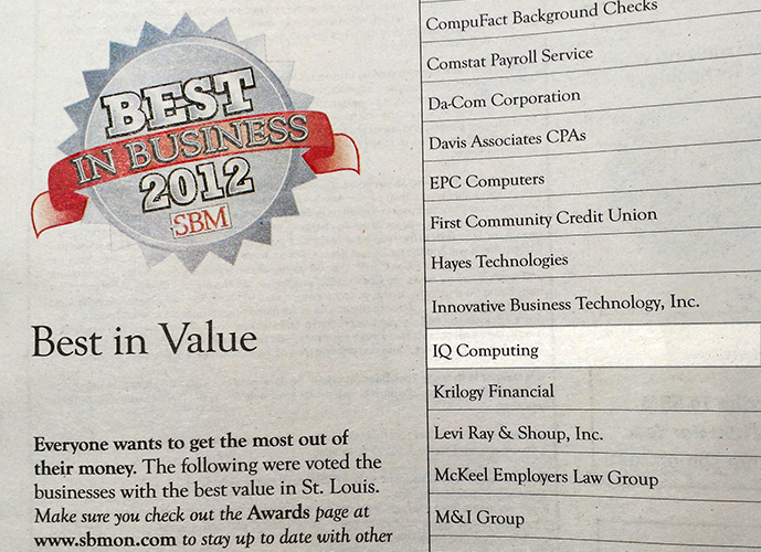 2012 Best In Value