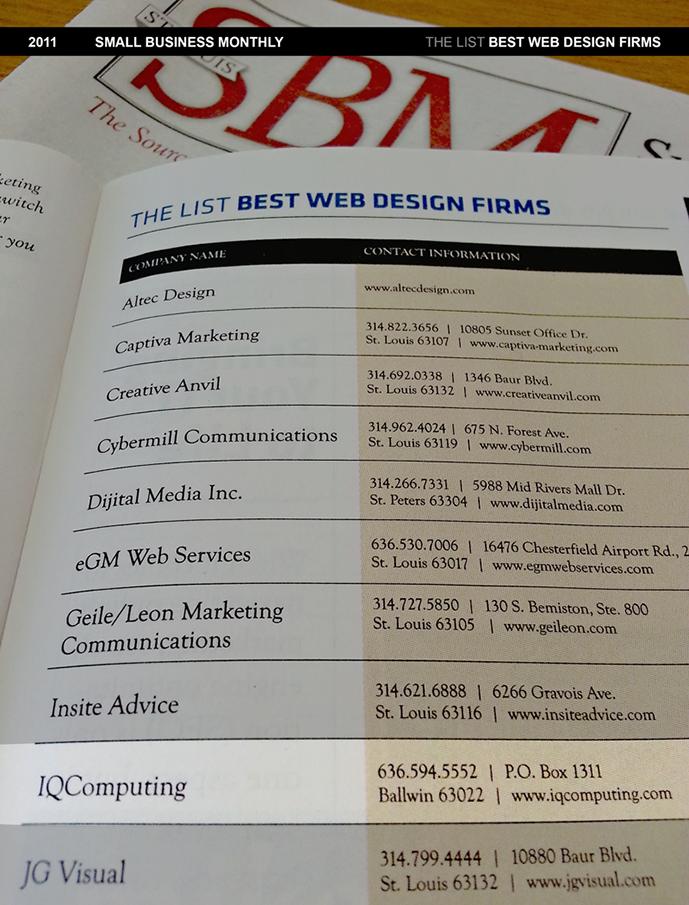 2011 Best Web Design Firms