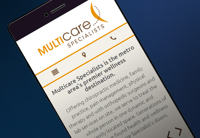 multicare-wellness-website-design